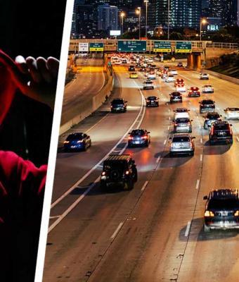 Девушка бросила авто посреди шоссе, но водители простят её. Увидев, кто напугал её, они бы сами сожгли машину