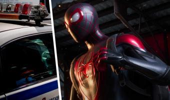 Баг в Spider-Man: Miles Morales на видео сломал копа. И такого (печального) реализма геймеры от игры не ждали