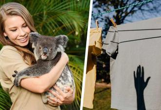 Дочь натуралиста Стива Ирвина посушила вещи на улице. И вышла не стирка по-австралийски, а кошмар инсектофобов