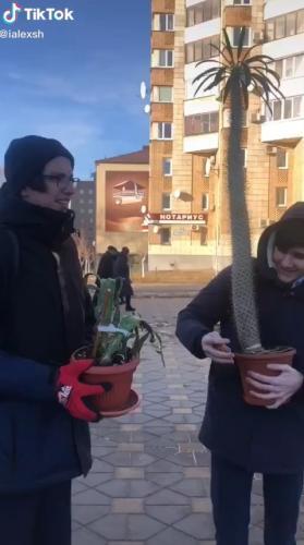 Ученики из России забрали цветы из школы, и люди плачут. Ведь они нашли милейший способ почтить память учителя
