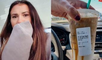 Девушка попробовала на камеру трендовый кофе из Starbucks. Но первые же глотки напитка показали: она больна