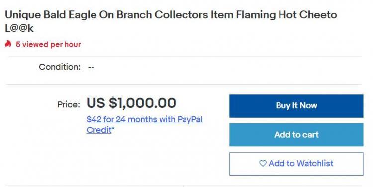 Люди увидели объявление о продаже орла из читос за 1000 долларов. Теперь они спорят, на кого он больше похож