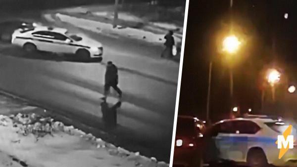Иностранцы увидели, как российские полицейские ценой своей машины спасли пешеходов. Теперь они спорят, как это