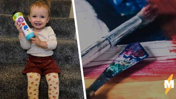 Дочь смотрела урок рисования и решила закосплеить художника. Пять минут, и мать не узнала ни дом, ни ребёнка