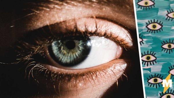 Девушка показала свой глаз и доказала - она не человек. Столько зрачков на насчитаешь даже у мухи