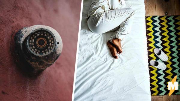 Девушка не знала почему плохо спит, пока не увидела запись камер. Ночью некто приходил её атаковать объятьями