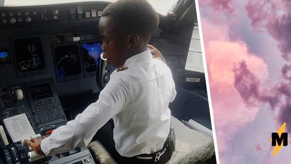 Школьник из Уганды сидит не за партой, а за штурвалом. Ему всего семь лет, но он уже стал пилотом авиалайнера