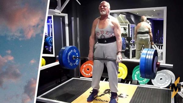 Дедуля в 83 года ставит рекорды по становой тяге. Секретом силач делится легко: это диета и божья помощь