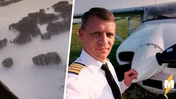 Пилот взял и заставил самолёт повиснуть в воздухе.