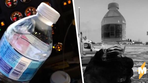 Парень бутылкой воды показал, как холодно в Канаде. Но люди быстро нашли объяснение морозному чуду