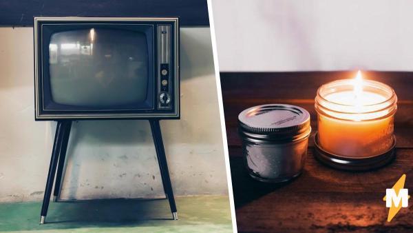 Парень показал, что будет, если оставить зажжённую свечу рядом с плазмой. Итог оценили фаны Сальвадора Дали