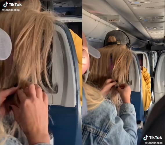 Пассажирка мешала соседке длинными волосами и нарвалась на месть. Видео с наказанием, о котором много спорят