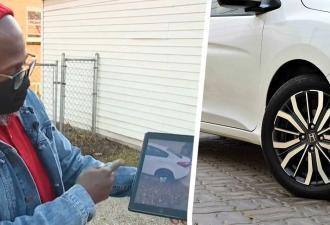 Вор украл колесо от машины и заменил его на съедобное. Однако такой обмен пришёлся не по вкусу владельцу авто