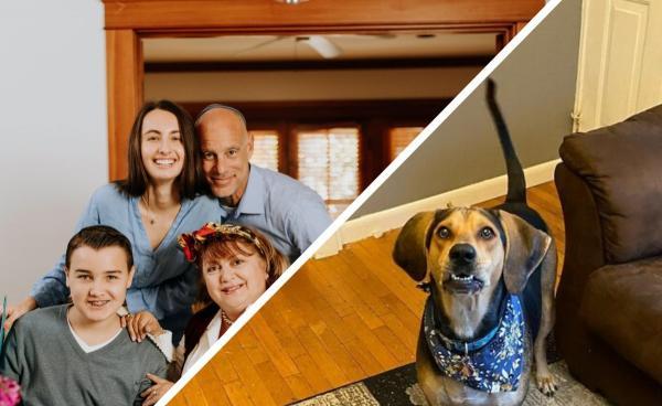 Собака Пенни испортила фотосет семьи, но сделала это со вкусом. Теперь её не накажут, ведь кадры стали лучше