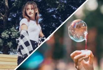 Девушка выдула мыльные пузыри без трубочки и сломала людей. Но повторять лайфхак они не советуют (и не зря)