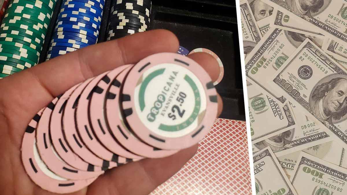 Парень купил дешёвый набор для игры в покер, а там — клад. И он позволит поднять денег в казино, не играя