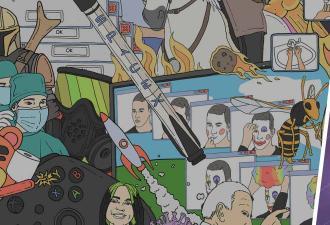 Билли Айлиш, COVID-19 и малыш Йода: пикчер собрал мемы 2020-го в один арт. И узнать каждый смогут лишь знатоки