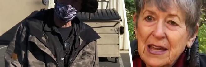 Бездомный залез в мусорный бак и попал на день рождения 12-летней девочки. Он забрал его и сердце бабули себе