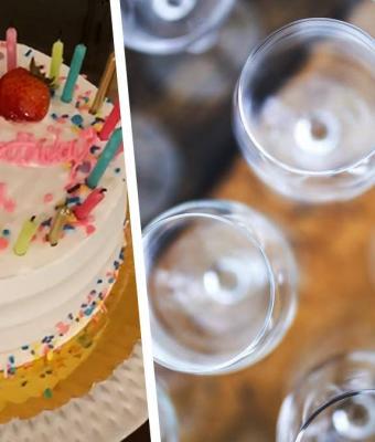 Именинница взяла в руки бокал и показала, как резать торт. Оказалось, мы всю жизнь могли делать это проще