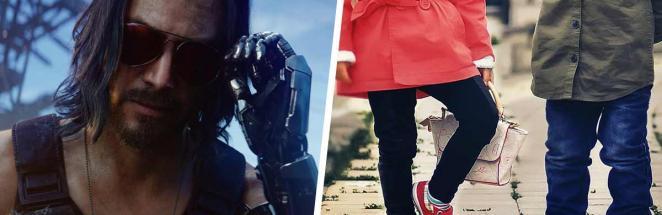 Геймеры увидели детей в Cyberpunk 2077 и мечтают их забыть. Ведь малышня выглядит как кроха-Киану Ривз в меме