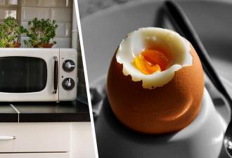 Что будет, если доготовить уже варёные яйца в микроволновке. Девушка узнала, и на кухне ей больше нет места