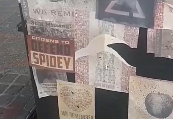 """Видео со съёмок """"Человека-паука-3"""" заставило фанов строить теории. И в постерах в Нью-Йорке они видят намёки"""