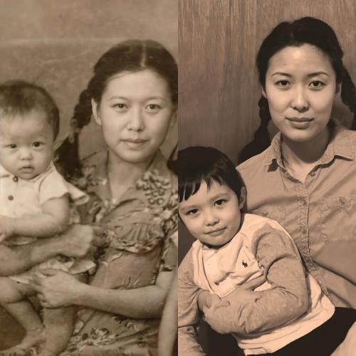 Девушка показала фото себя и своей бабушки и сломала людей. Ведь на двух снимках они видят одно и то же лицо