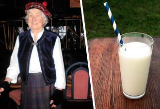 Старушка в 106 лет поделилась секретом долгой жизни. Кровь единорога не нужна: хватит и молока с вискариком