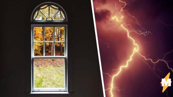 """Парень фотографировал вид из окна. В тот же миг ударила молния, разделив изображение на """"до"""" и """"после"""""""