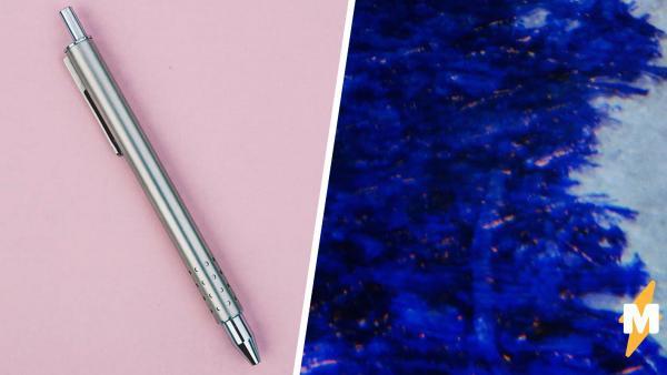 Фотограф показал в макросъёмке, как пишет шариковая ручка. Удивительно, но на линию это похоже меньше всего