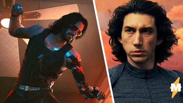 Косплеер изобразил персонажа из Cyberpunk 2077, а люди видят Кайло Рена. косплей Адама Драйвера и Киану Ривза