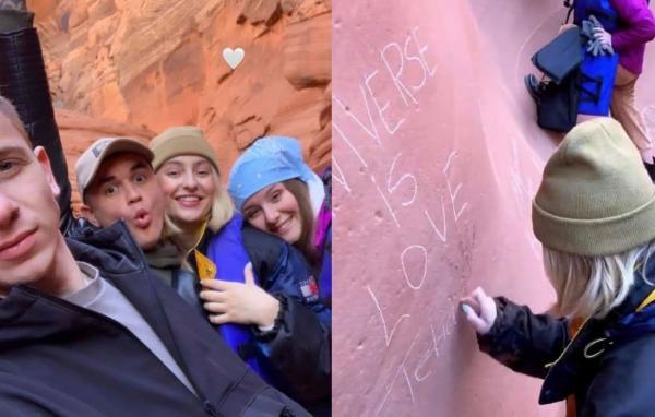 Блогерша из РФ побывала в каньоне в США и оставила там послание. Но у людей для неё другой месседж (злой)