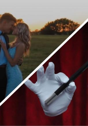 Пара снялась на видео, и людям страшно за девушку. Ведь она парит в воздухе без ног, но это оптическая иллюзия