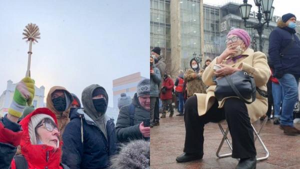 абули ворвались на митинги в России и стали героинями для людей. Ещё бы, ведь они не знают, что такое страх