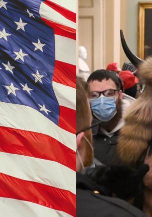 Парень ворвался в Капитолий в США в образе викинга и стал мемом. Его лук — самое то для ужина с семьёй девушки