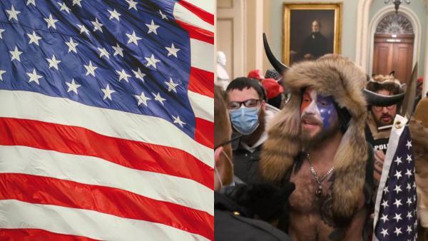 Лицом захвата Капитолия стал мужчина, одетый как викинг.