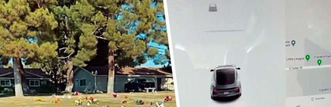Мужчина проезжал на Tesla мимо кладбища, а датчик авто зафиксировал человека. Вот только рядом никого не было