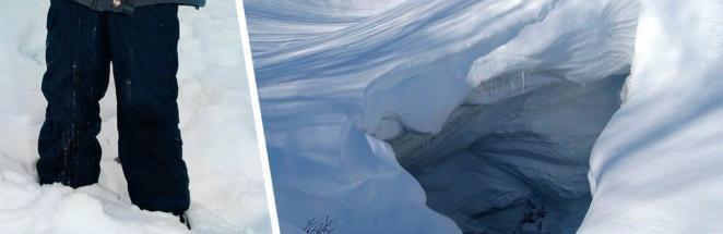 Школьник заблудился во время снежной бури в горах и выжил. Чтобы побороть стихию, ему хватило лишь лопаты