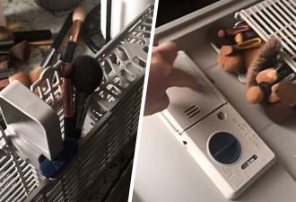Муж решил сделать жене сюрприз и помыл её кисти для мейкапа. Но сделал это так, что девушки его не простят
