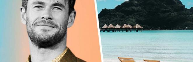 Крис Хемсворт поделился фото из отпуска, но люди смотрят на живот. Они поверили: Тор существует в реальности