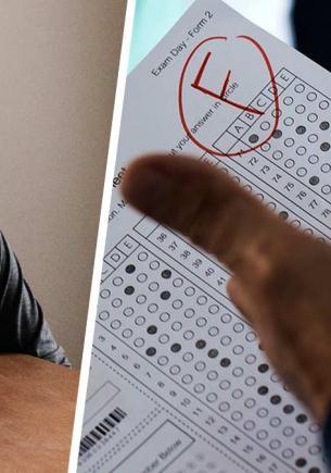 Мужчина пришёл сдать экзамены в универ, но завалил их раньше, чем заполнил бланк. Главный тест был на его лице