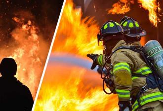 Парень помогал пожарным тушить огонь, но они не знали его главную тайну. Работа у них была тоже благодаря ему