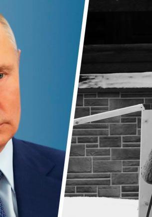 Владимир Путин нырнул в прорубь на Крещение. Люди верят, что синее бельё он надел не зря, и ищут на фото пар