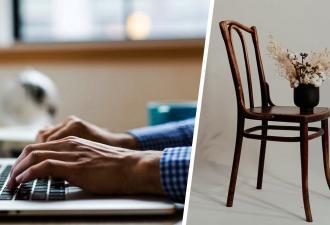 Мужчина не понимал, почему новое кресло такое неудобное. Через 9 месяцев он догадался посмотреть, на чем сидит