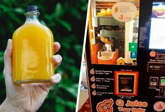 Покупатель заглянул в аппарат со свежевыжатым соком и пить перехотел. Жажда пугает меньше мертвопельсинов