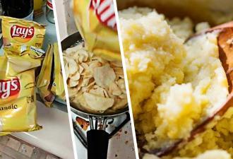 Парень показал, что будет, если приготовить из чипсов пюре и напиток. Такие рецепты дарят боязнь любых снэков