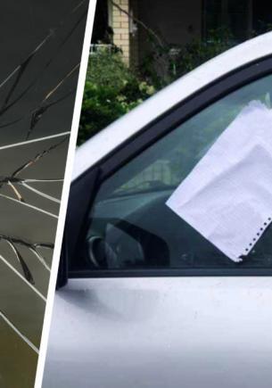 Мама увидела на авто записку с предостережением и решила — пранк. Не до смеха стало, когда она открыла капот