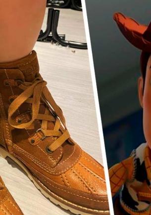 Отец хотел, чтобы сын был куклой Вуди, но сам стал шерифом. Он раскрыл тайну жены, которую та прятала в обуви