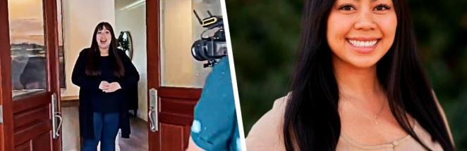 Девушка показала, как открываются двери на риелторских видео. Люди в восторге: технологии тут ни при чём