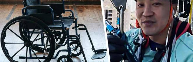 Акрофобам страшно от видео с высоткой из Гонконга. Но парень с параличом, свисающий с 50 этажа, их не понимает